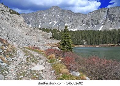 Little Bear Peak and Lake Como, Rocky Mountains, Colorado
