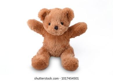 Little  bear , teddy bear isolated on white background