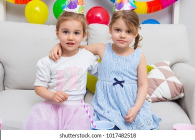 Little beautiful girl celebrate her birthday. Happy birthday