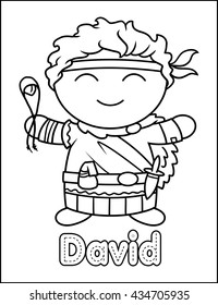 Little Bible Character Coloring Activity David