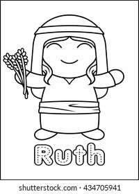 Little Bible Character Coloring Activity Ruth