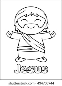 Little Bible Character Coloring Activity Jesus