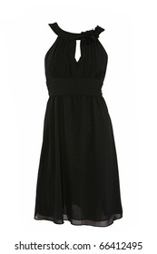 Little black dress isolated on white