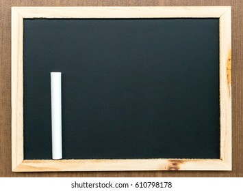 little blackboard with wooden frame