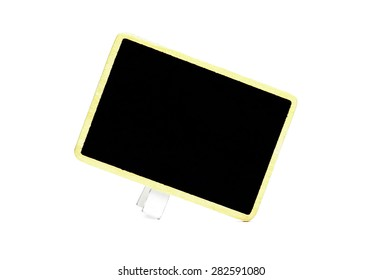 A little blank blackboard isolated on white background