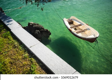 A little boat in calm sea