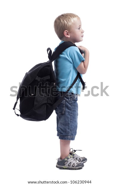 Little Boy Backpack Stock Photo (Edit Now) 106230944