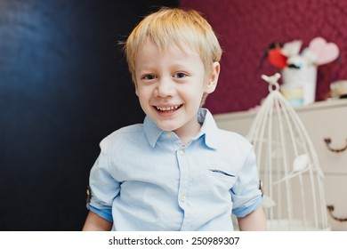 Little boy in the children's room