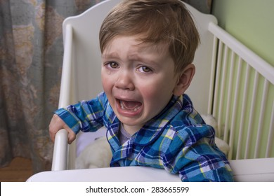 little boy crying hysterically