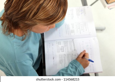 Little boy in exam