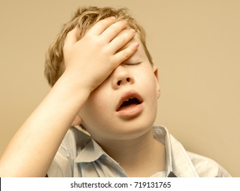 Little boy experiences failure