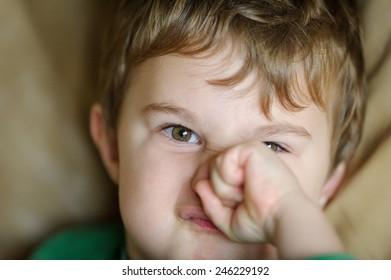 Little boy - funny face