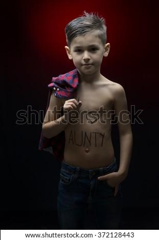 Indian Small Boy Aunty