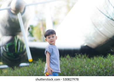 Little Boy in the nature park.