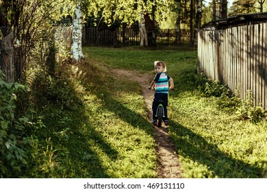little boy on a Balance bicycle