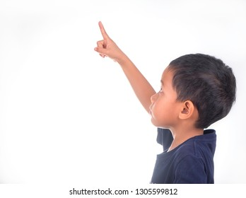 little boy on white background.