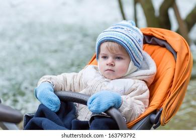 0d7f348cc067 Portrait Little Baby Boy Winter Clothes Stock Photo (Edit Now ...