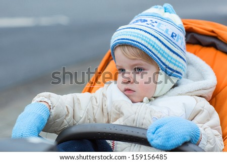 a8233ecb0252 Little Boy One Year Old Warm Stock Photo (Edit Now) 159156485 ...