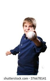 little boy playing baseball