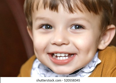 little boy portrait. close up