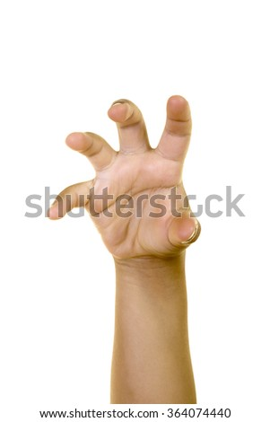Little Boy Ready Paw Claw Gesture Stock Photo Edit Now 364074440