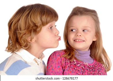 little boy sending a kiss
