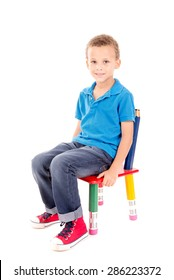 Boy Sitting On Chair Images Stock Photos Amp Vectors