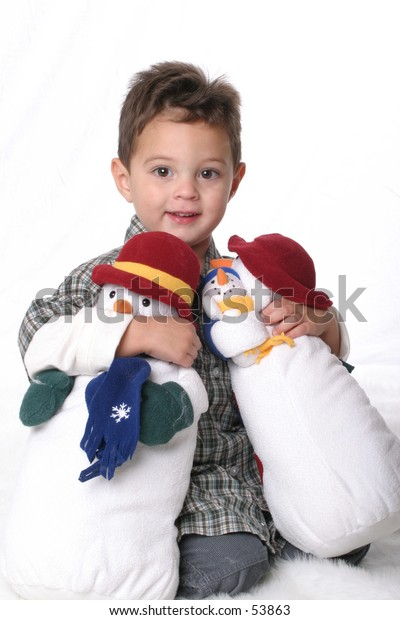 Little Boy with Snowman2