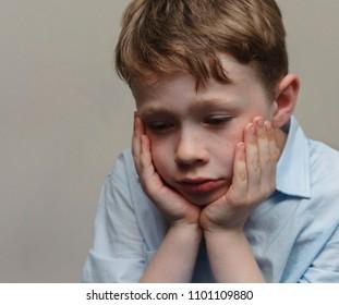 Little boy suffers