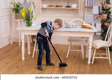 kid sweep house images stock photos vectors shutterstock https www shutterstock com image photo little boy sweeping floor pretty cleaning 654510715