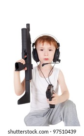 little boy with the weapon