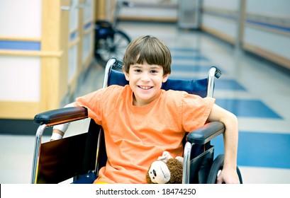 Little Boy in Wheelchair