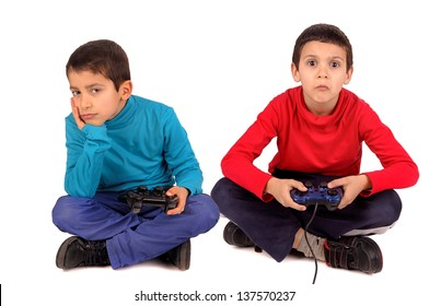 little boys playing video games