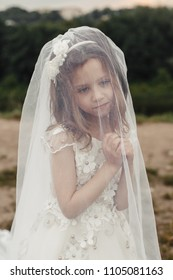 little bride in the park
