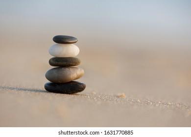 Little cairn on the beach