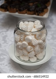 little cakes marshmallows in a glass jar