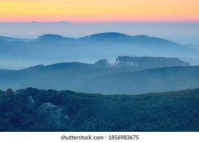 Little Carpathians hills in the morning light, Slovakia
