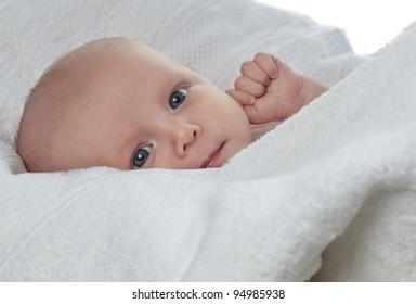 little child baby  on white background