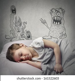little child has nightmares