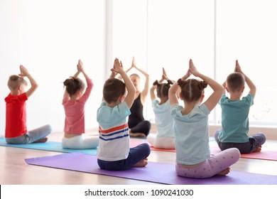 yoga kid images stock photos  vectors  shutterstock