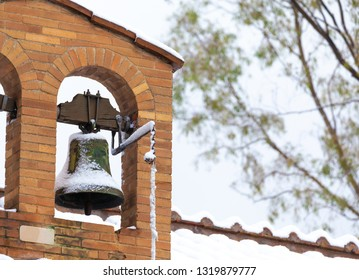 Little Church Bell after a snowfall in winter.