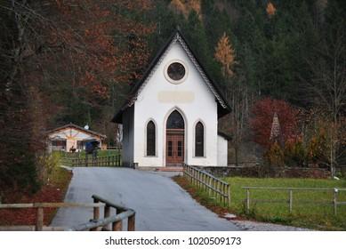 the little Church in the dolomaits: chiesetta del caravaggio
