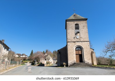 Little church in Village in the French Limousin