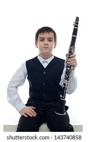 Little clarinet player take a rest