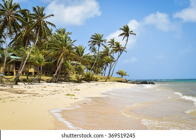 Little Corn Island, Nicaragua June 10, 2015: Typical day on the beaches around Yemaya Island Hideaway & Spa on Little Corn Island, located off the Caribbean coast of Nicaragua.
