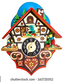 A little Cuckoo Clock on a white background