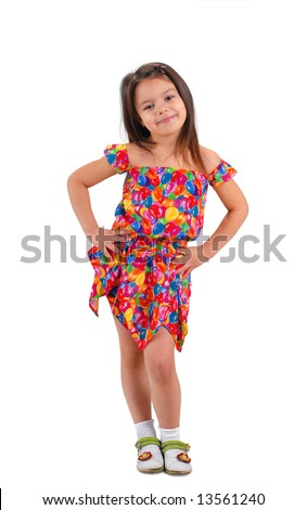 bbe19814a6f8 Little Cute Brownhaired Baby Girl Posing Stock Photo (Edit Now ...