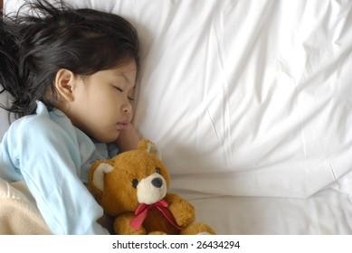 little cute girl sleeping