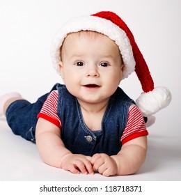 little cute santa portrait