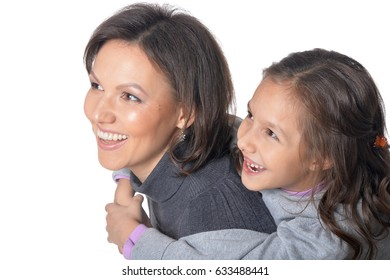 Little daughter with her mother